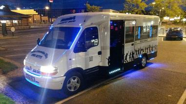 Party bus hire Bishop Auckland, mini bus hire Middlesbrough, coach hire Middlesbrough